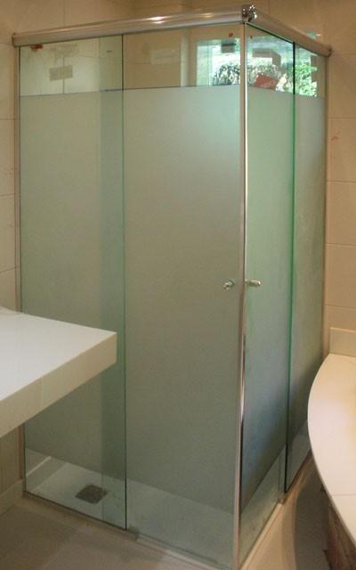 Box de Banheiro para Canto em Santana - Empresa de Box de Banheiro