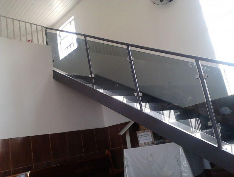 Empresa para Fazer Corrimão de Vidro na Vila Maria - Corrimão de Escada em Vidro Temperado