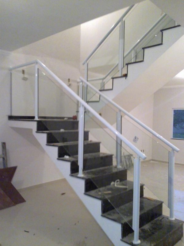 Qual o Valor para Fazer Corrimão de Vidro na Vila Formosa - Corrimão de Escada em Vidro