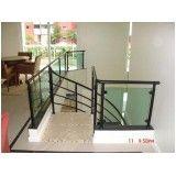 Corrimão de escada alumínio e vidro qual o preço em Guarulhos