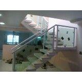 Corrimão de escadas alumínio e vidro na Vila Formosa