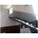 Corrimões de escada alumínio e vidro preço no Jardim São Paulo