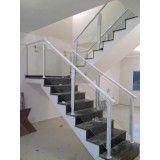 Corrimões de escada alumínio e vidro valor no Tremembé