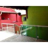 Guarda corpo de vidro e alumínio com preço acessível na Vila Maria