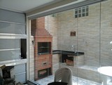 vidro serigrafado na cozinha na Vila Guilherme