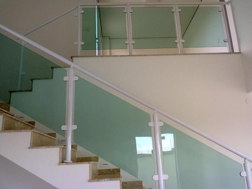 Valor Fazer Corrimão de Vidro na Vila Formosa - Corrimão de Escada em Vidro